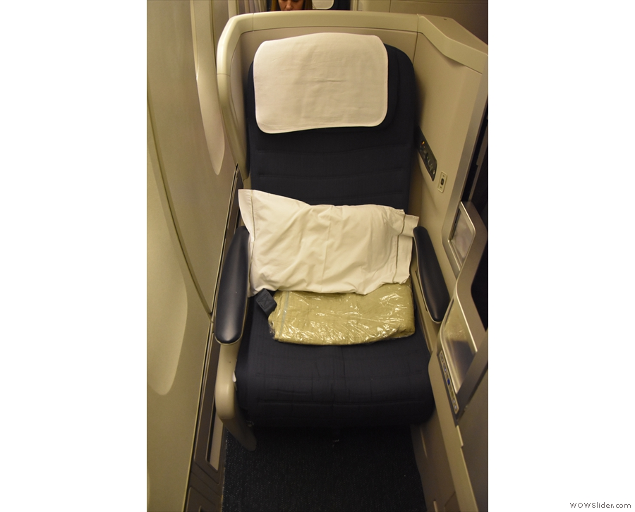 Compared to the middle seat I had on my previous flight, this offered much more privacy...