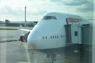 The next time I was on a 747, I was flying back from Phoenix...