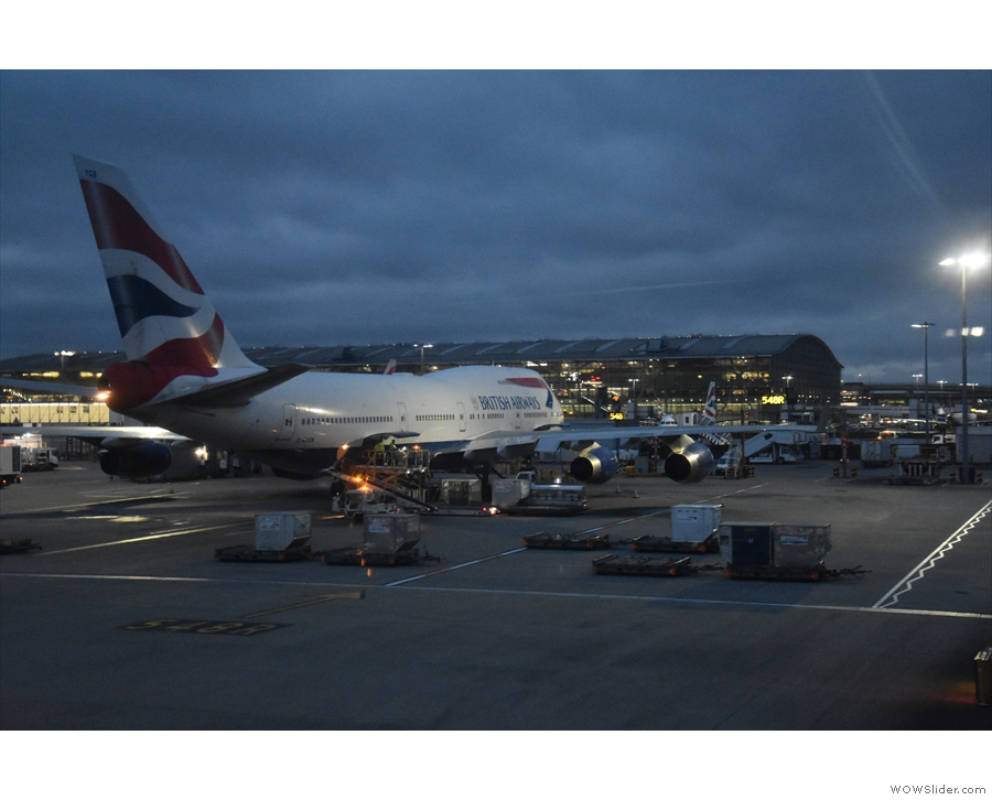... while this was parked at Heathrow when I returned home, the last 747 photo I took.