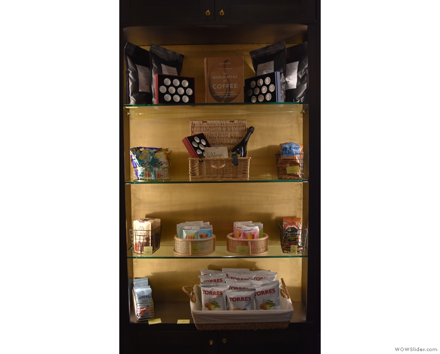 ... and a more traditional retail cabinet.