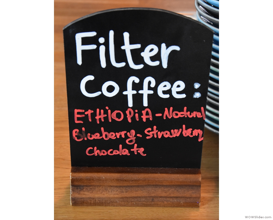 ... and even the batch brew filter had run out!