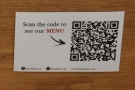 ... although you can also scan the QR Codes on the tables to view it online.