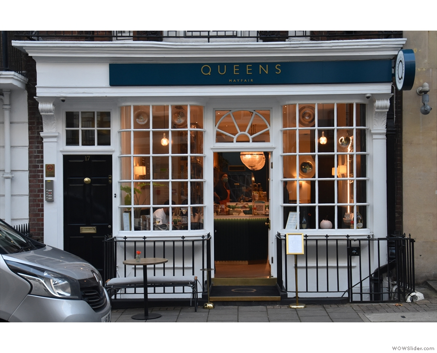 The unassuming façade of Queens of Mayfair hides something very special inside.