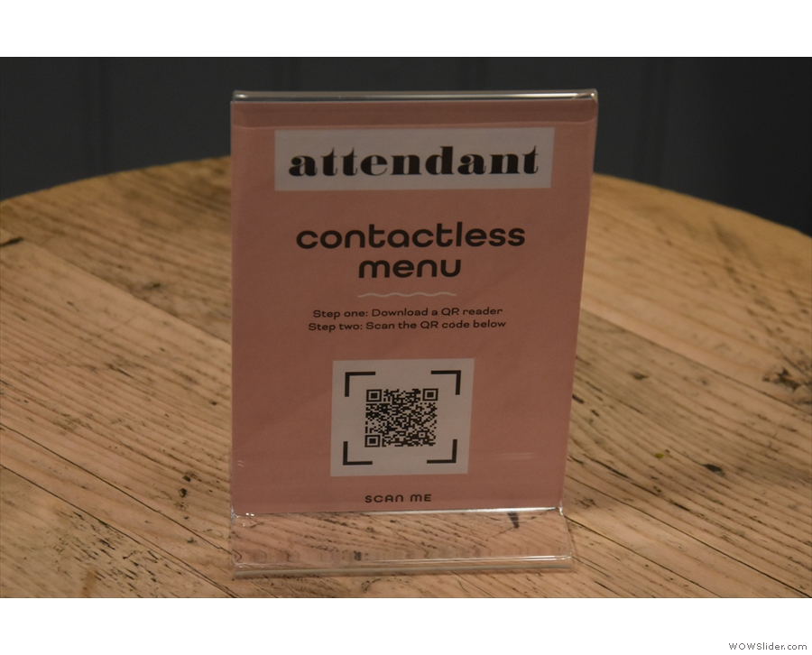 ... while you can also scan the QR Code on the other side to see the menus.