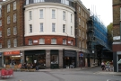 On the corner of Leather Lane and Hatton Wall stands an interesting, curved façade...