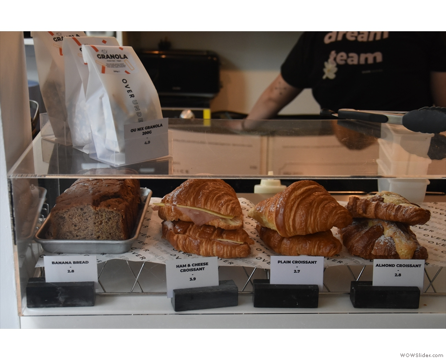 ... where you'll find the pastries, cakes and filled croissant...