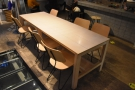 And the communal table in more detail.