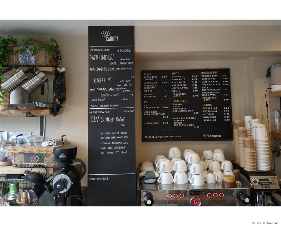 ... two days later, popping into Canopy Coffee, which was only doing takeaway by then.