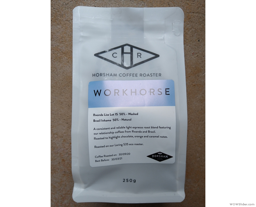 ... a lot more coffee at home, so support your roasters. I picked this up from Krema...