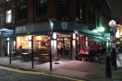 This is what it looks like at night, when I visited for dinner. At night, the tables on Pine St...