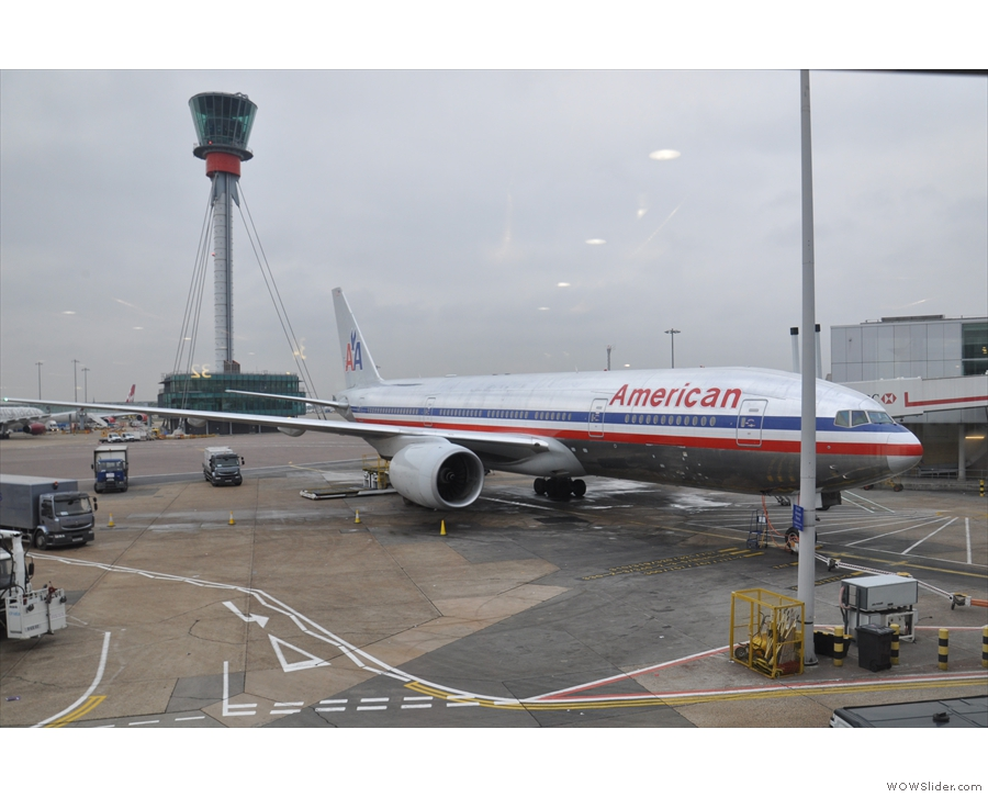 My journey began with American Airlines, which took me from Heathrow to Boston...