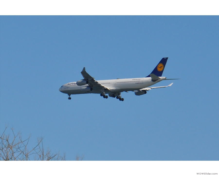 ... including some international arrivals such as Lufthansa.