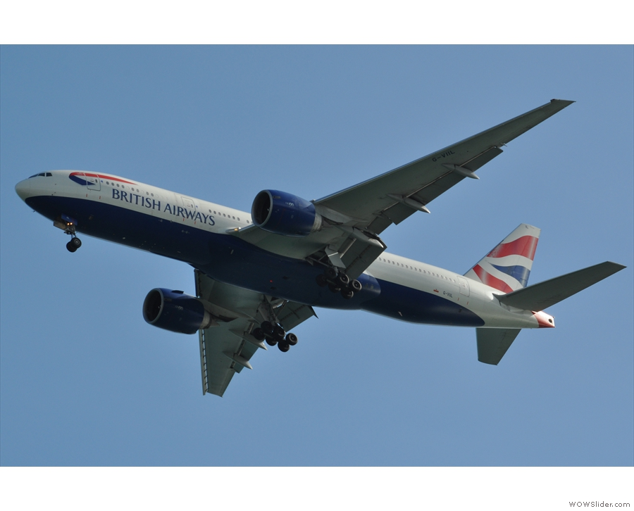 ... including this British Airways 777 from Heathrow.
