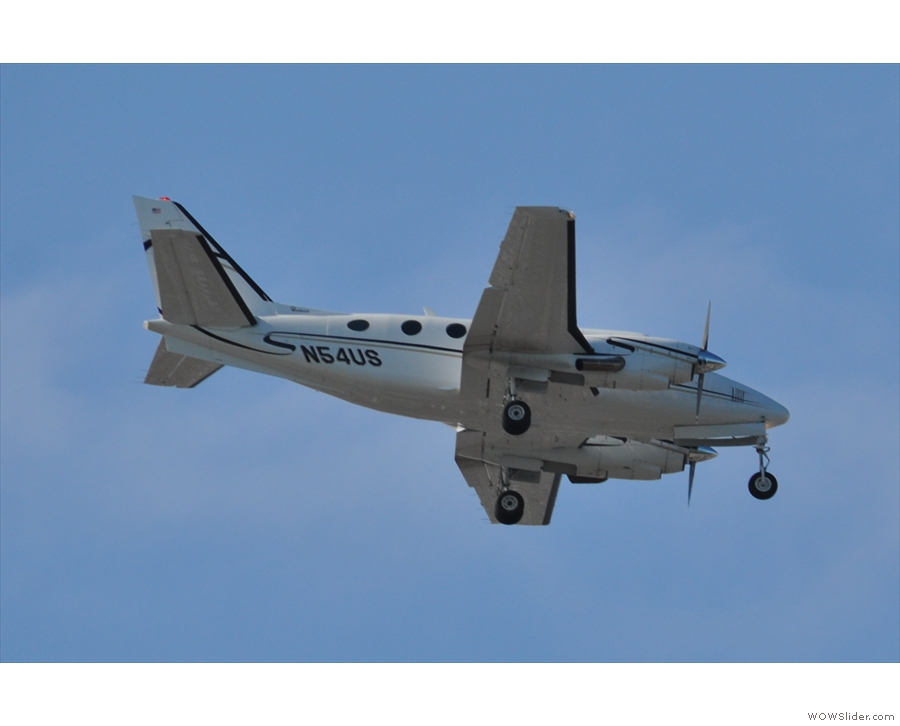 ... as did this privately-owned Beechcraft King Air B100.