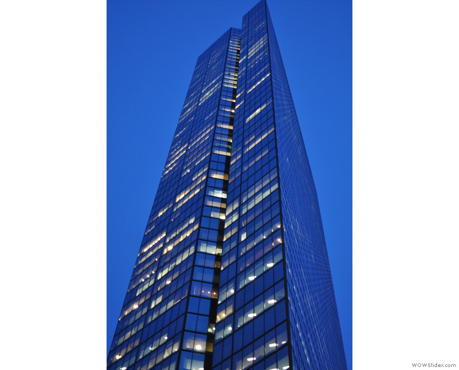 ... landmark, the John Hancock Tower (now 200 Clarendon Street) visible night and day.