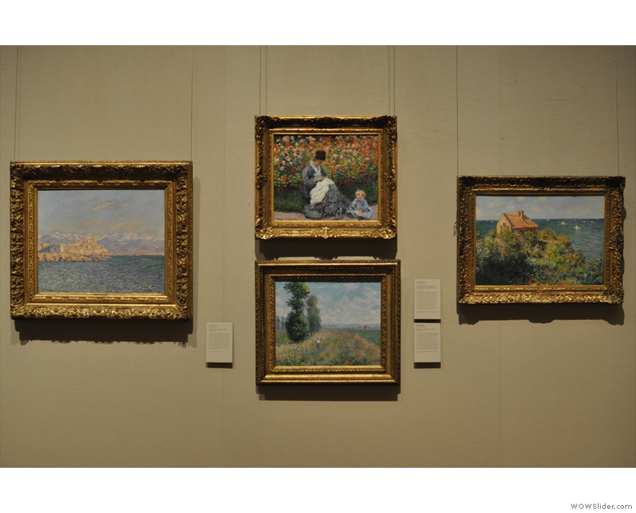 ... and Claude Monet, both of whom had multiple works on display.