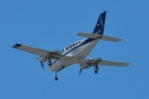 It wasn't all large jets though. This litte Cessna 402 from Cape Air came over...