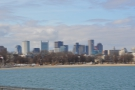 This is the view from the causeway north over Pleasure Bay towards downtown Boston...