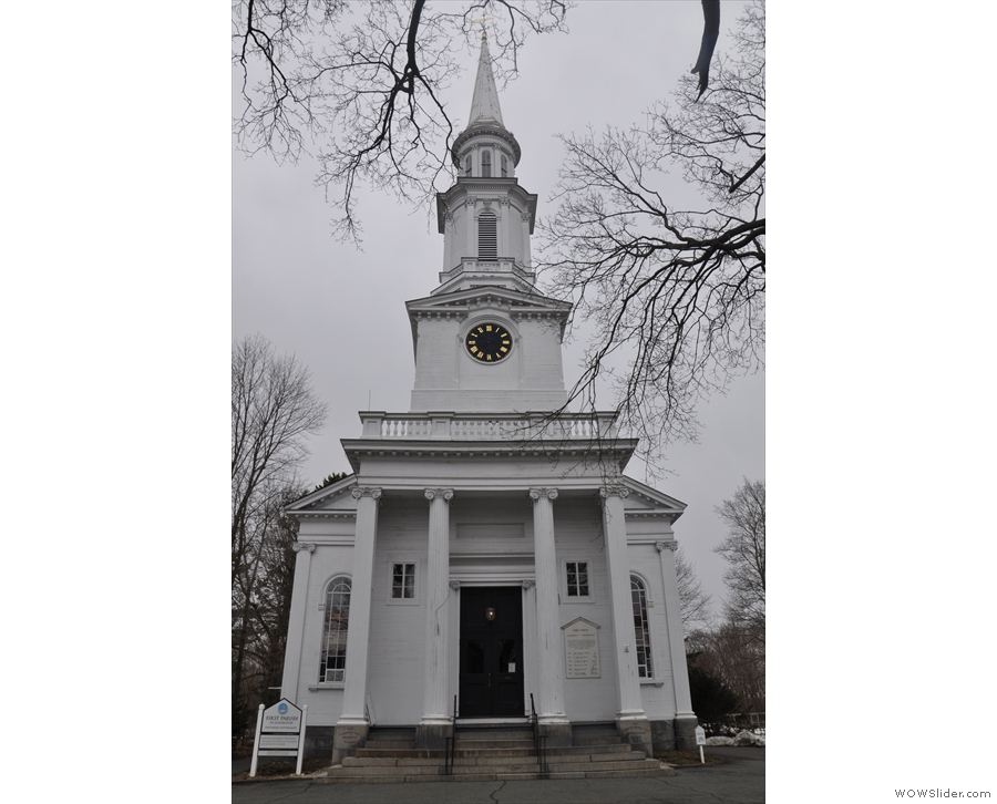 ... New England church. However, it majors on its...