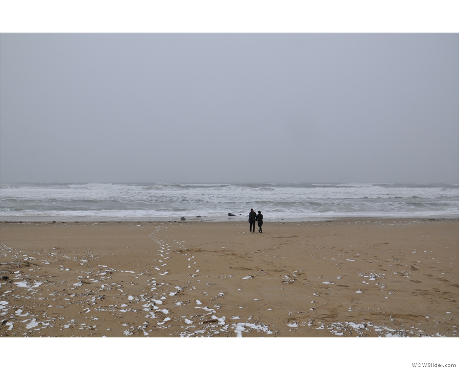 ... where we stuck to another grey, cold, stormy beach.