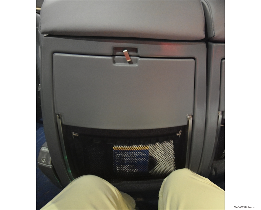 There's still bags of legroom, even in a standard coach class seat...