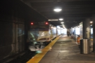 After catching a commuter train (rather like this one) I made my way to Back Bay station...