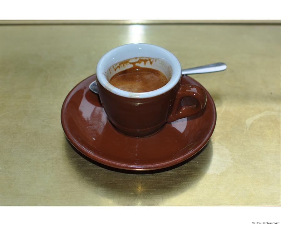 ... for an espresso...