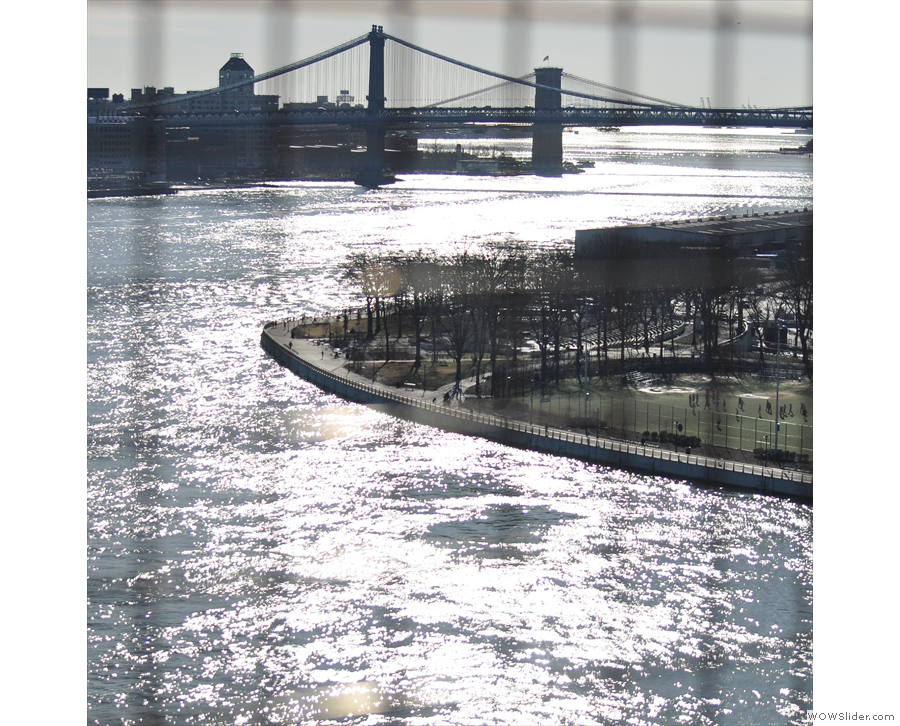 ... while here's the view south/west to the Manhattan and Brooklyn Bridges.