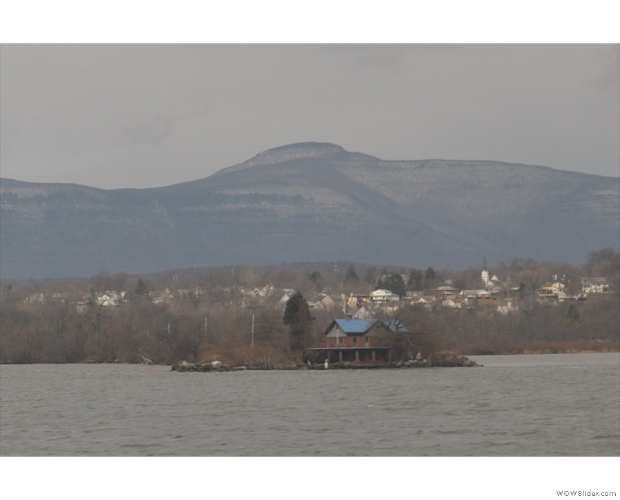 Neat house. I think it's an old ferry terminal at Saugerties