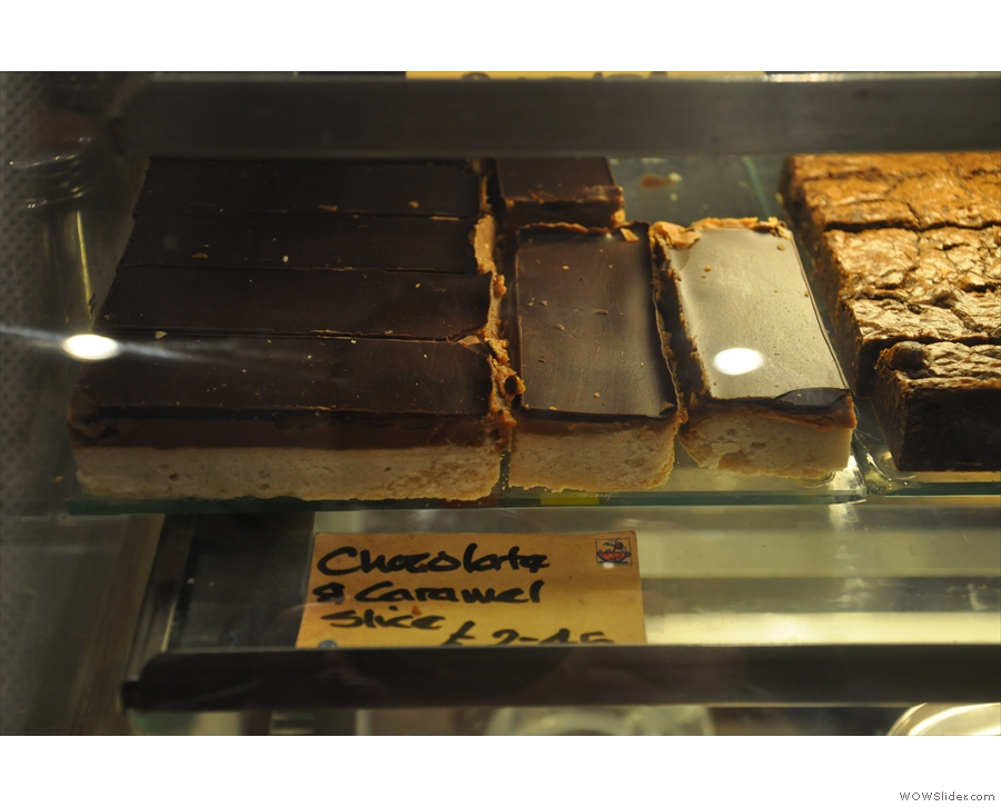 ... and chocolate & caramel slices!