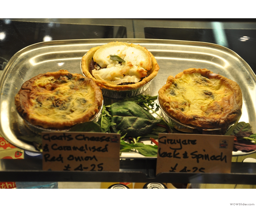 Those quiches look very tasty. And very healthy.