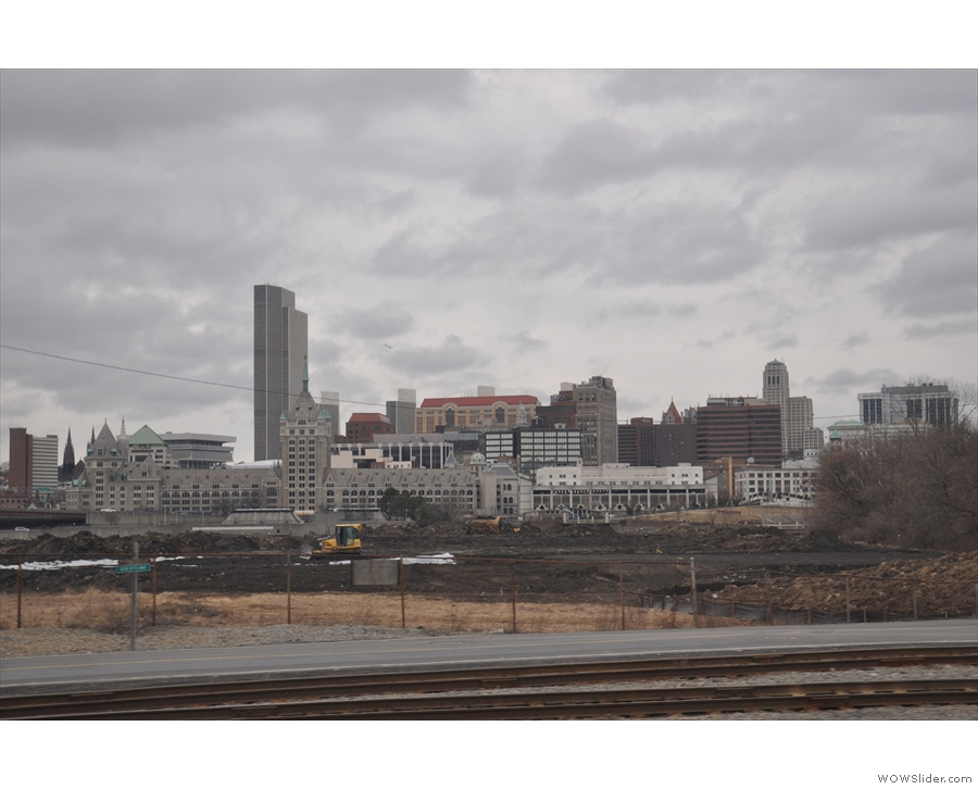 Back to 2013 and I did manage a picture of downtown Albany, which is across the Hudson.