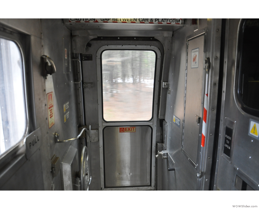 I was able to indulge in one of my favourite passtimes: standing at the back of the train...