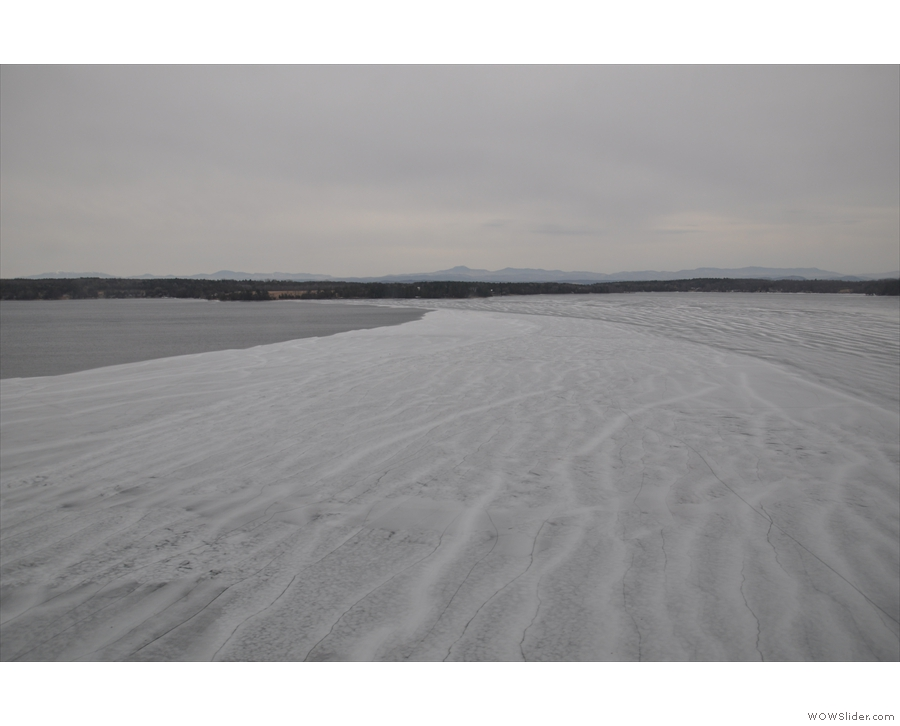 I was quite fascinated by the ice on the lake...
