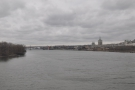 The train crosses the Hudson immediately after leaving the station...