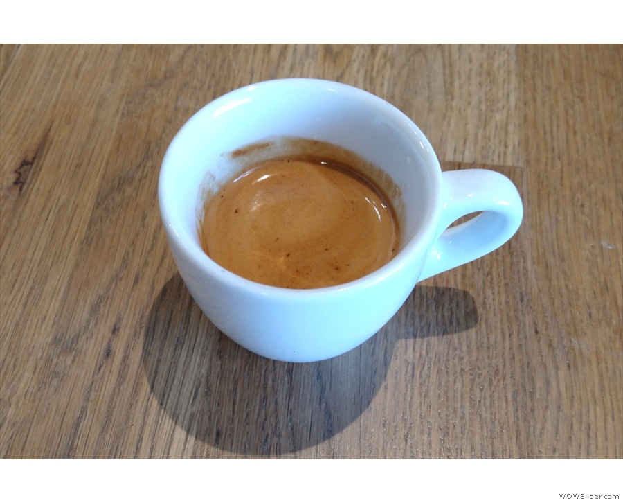 ... which I tried as an espresso last week.
