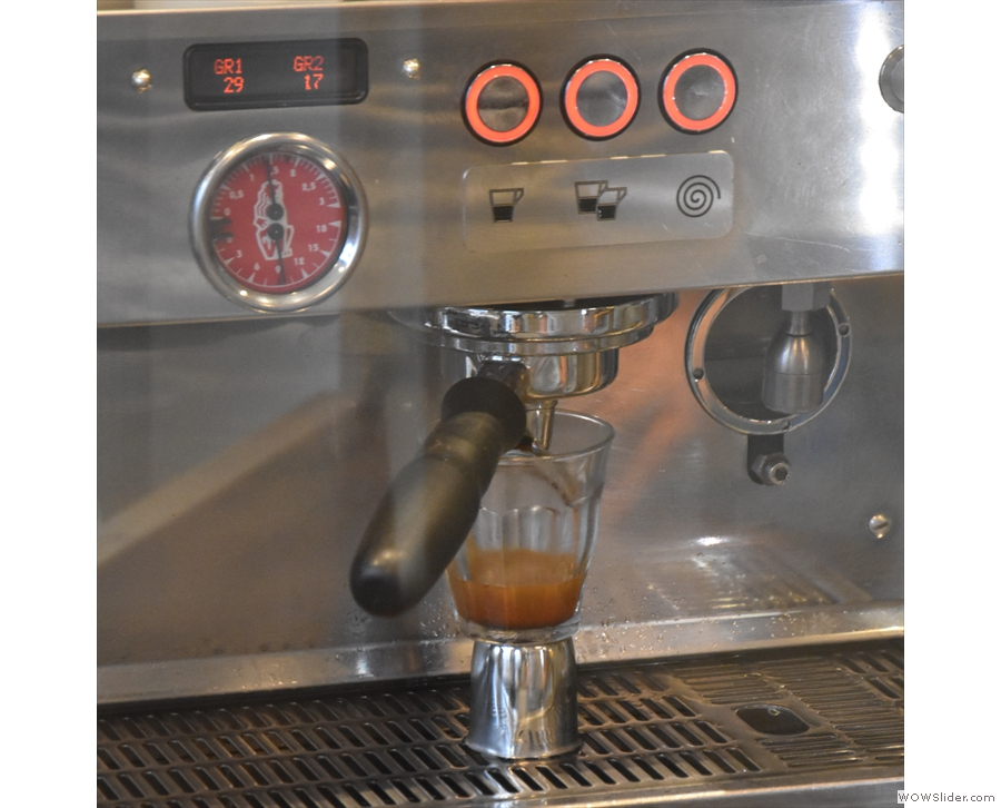 There's the espresso machine...