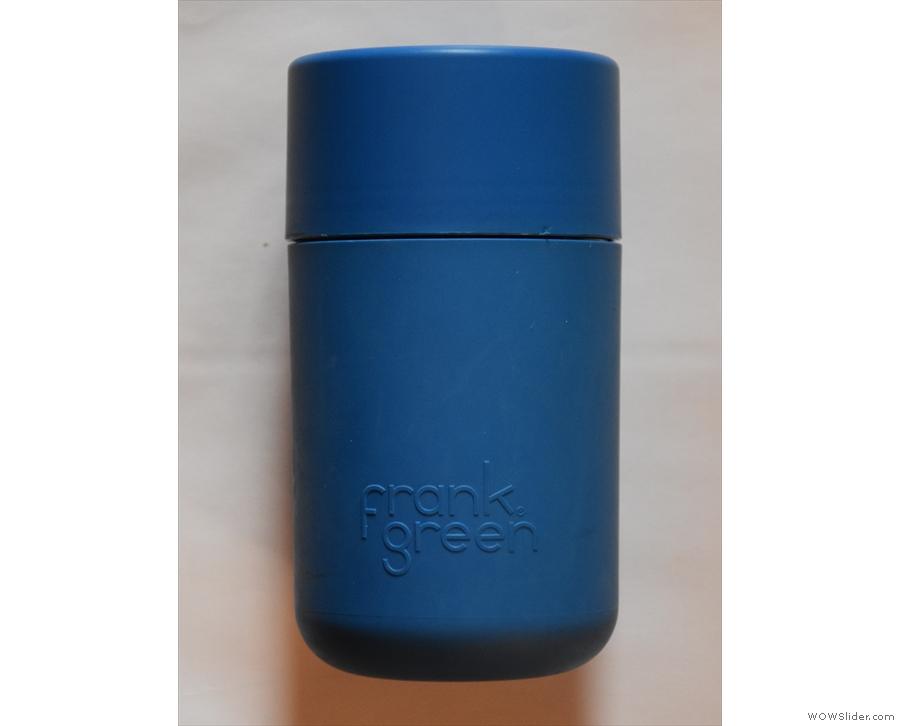 For comparison, here's the original (all plastic) Frank Green SmartCup.