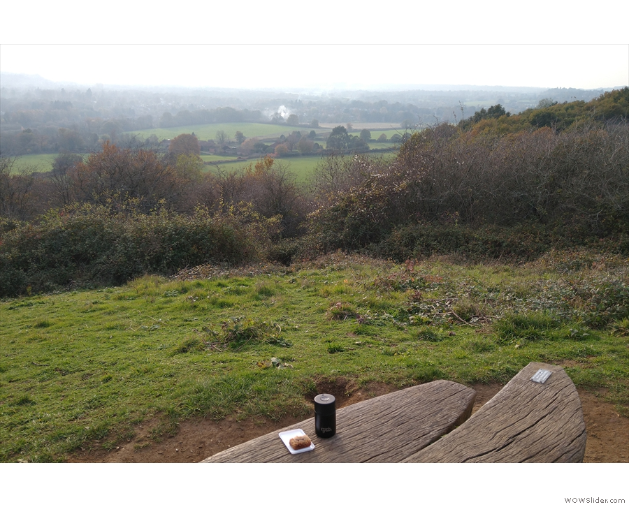 My first test involved taking my new cup on my daily walk into the Surrey Hills...