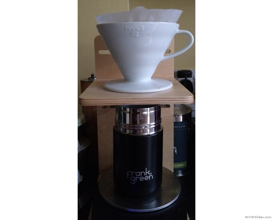 And finally, on Friday night, I made another pour-over (directly into my Frank Green cup)...