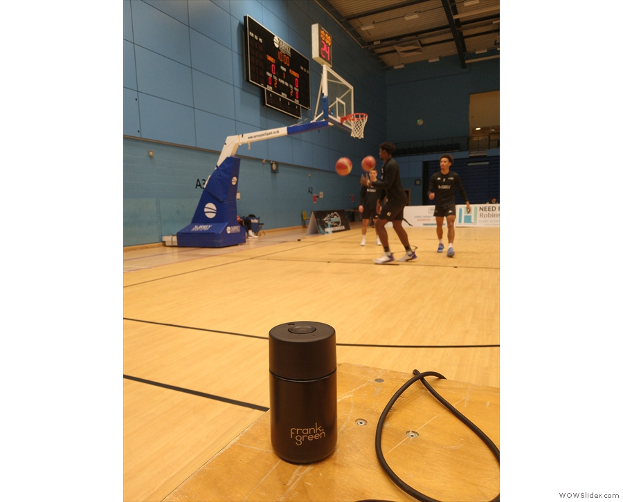 ... then my cup and I went to see Surrey Scorchers play basketball.