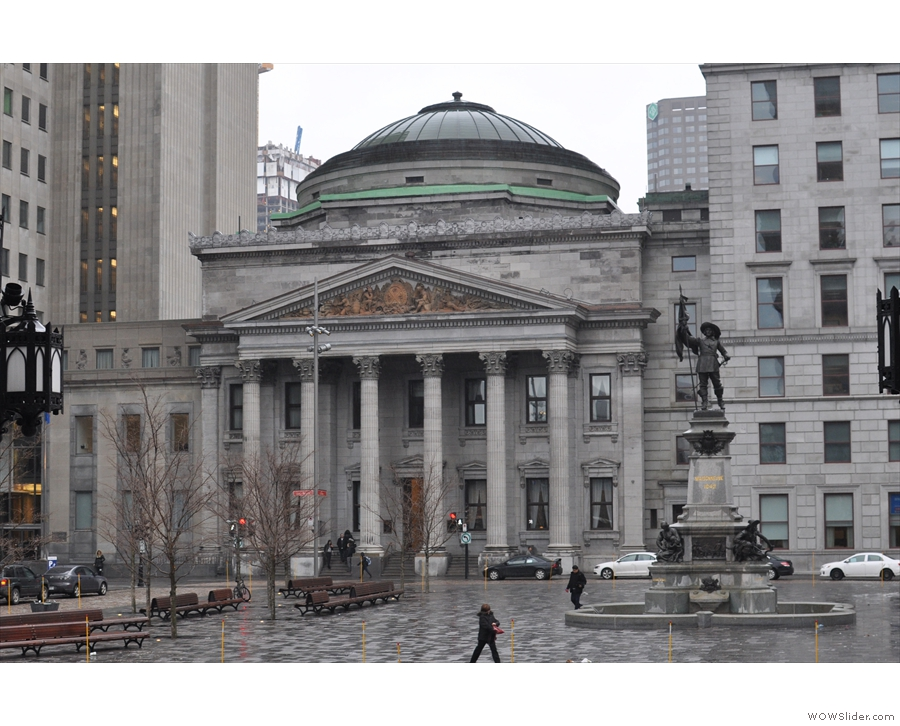 Instead I took the metro to Place D'Armes. This is the Bank of Montreal (now a museum)...