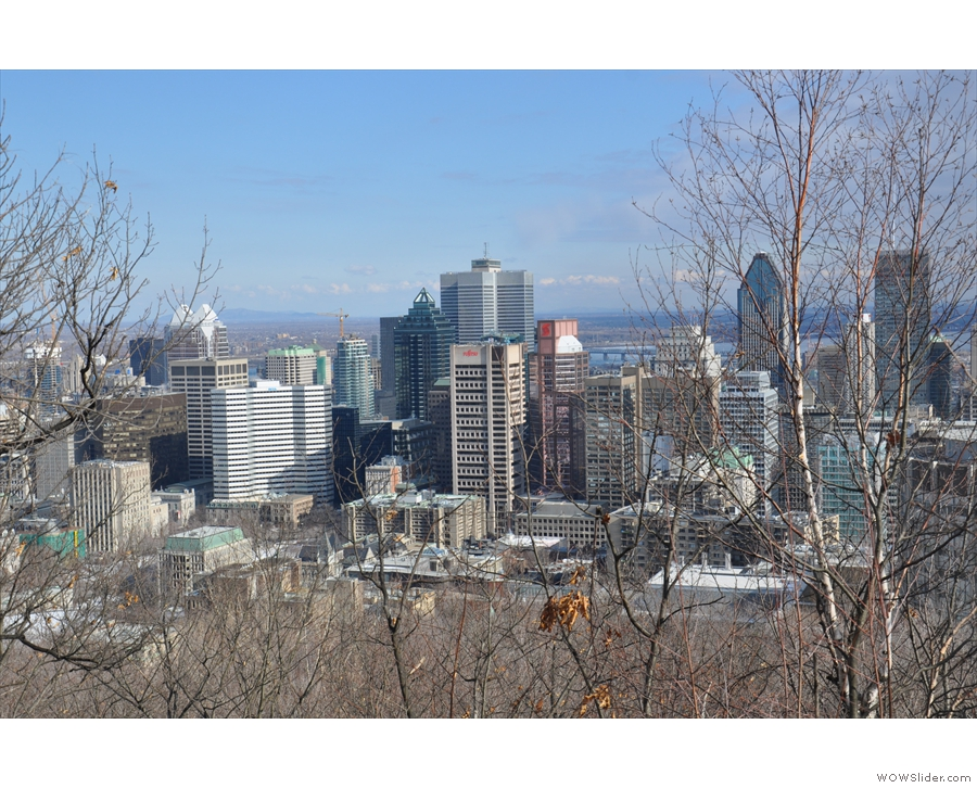And there it is: downtown Montreal...