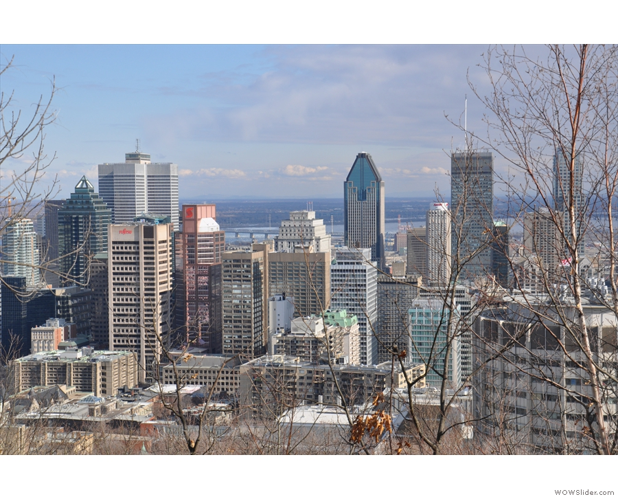 ... with McGill University in the foreground.