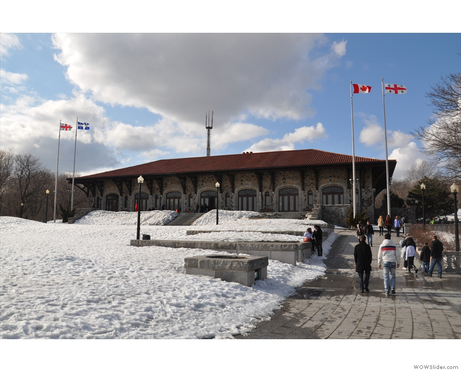 Near the top of the hill is Mt Royal Chalet, built in 1932.