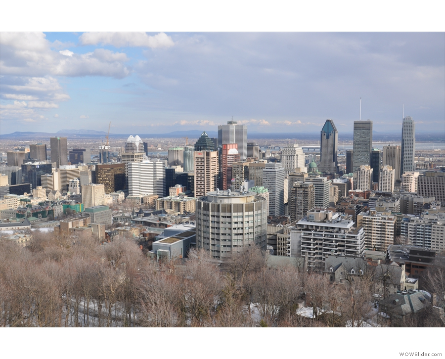 And now we're back with views of downtown Montreal.