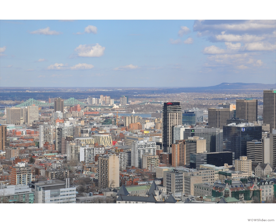 Moving south, this is the view across to Vieux Montréal and Vieux-Port de Montréal.