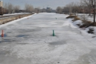 ... although the canal remained frozen.