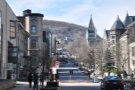 I headed into downtown Montreal, where I'd set myself the task of climbing Mt Royal.