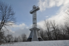 ... where there's this cross, built in 1924.
